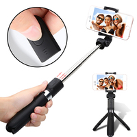Foldable Tripod Selfie Stick Bluetooth Selfiestick With Wireless Shutter Selfie Stick For IPhone 8 7 Samsung