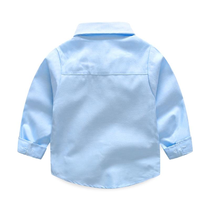 Kołnierzyk z guzikami z guzikami dla dzieci Bluzki z długimi - Ubrania dziecięce - Zdjęcie 2