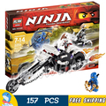 156pcs new Bela 9728 Ninja Skull Motorbike Building Blocks Model Toys Jay 3D DIY Bricks kids Toys Compatible With Lego