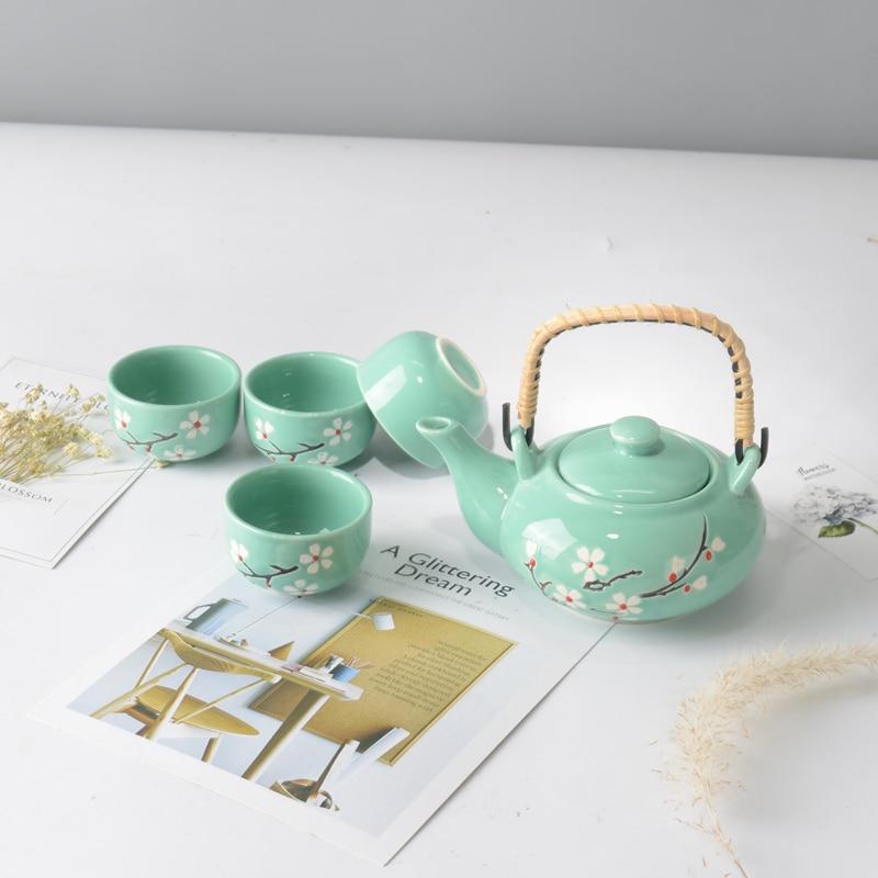 Tea sets 4pcs teacup 1pcs teapot. Kung Fu tea The highest sales of tea set.The most creative Coffee cup birthday present gift