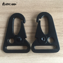 100x HK style 1 sling clips Spring Snap Hook Strap Rifle Gun Attachment Black,metal buckle