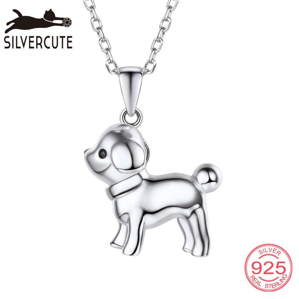 Silvercute Cute Puppy Собака Підвіски Кольє з - Вишукані прикраси