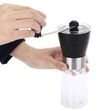 Ince Seramik Burr Kahve Çekirdeği Değirmeni Manuel El Krank Kahve Makinesi Çapak Mısır Değirmen Fasulye Değirmen Değirmeni Makin...