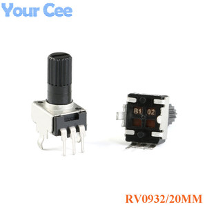 10pcs RV0932 Potentiometer Adjustable Handle 20MM Round Shaft 1K/102 5K/502 10K/103 50K/503 100K/104 WH09 0932(China)