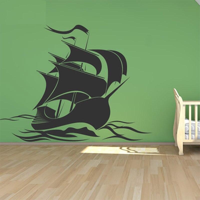 Muurstickers Kinderkamer Piraat.Piratenschip Muurstickers Piraat Muurtattoo Art Muursticker Voor