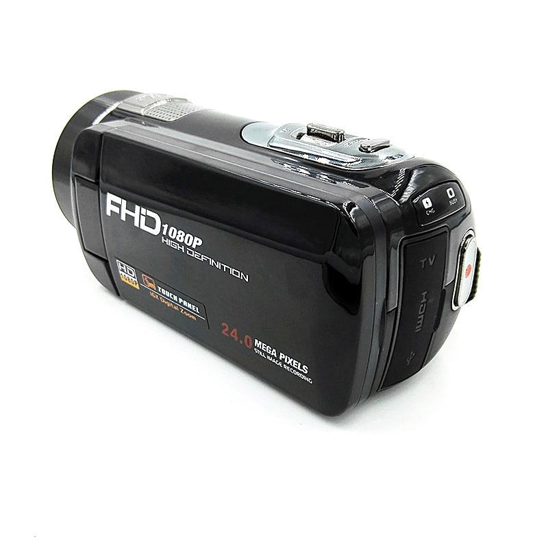 High quality Full HD 1080P Digital Camera 16x Zoom Recorder Camcorder Video Camera 3'' Touch Mini DV DVR 24MP dv613a full hd 1080p digital video recorder camcorder 16x zoom digital dv camera kit black video camera up 16mp