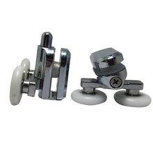 Сменные фиксирующие колеса для душевой двери в хром-4x верхней и 4x нижней-25 мм