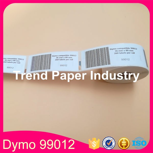 30 Rolls Dymo Compatible 99012 Label 36mm*89mm 260PcsRoll Compatible for LabelWriter400 450 450Turbo Printer  SLP 440 450