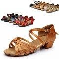 Professional Venda Quente Cetim Sapatos de Dança Latina Mulheres Meninas Salsa Ballroom Sapatos Zapatos De Baile Latino Mujer WZSP