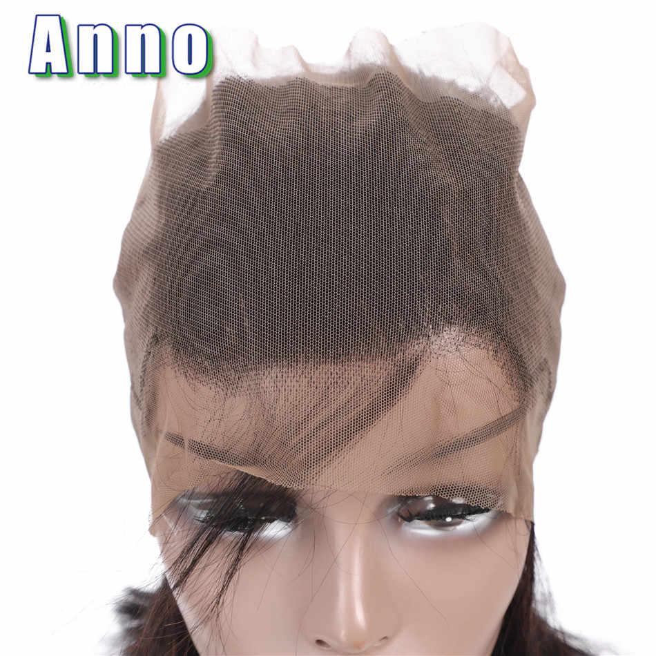 Annowig 360 синтетический фронтальный Малайзийский объемный волнистый человеческие волосы с закрытием волос не Реми натуральные человеческие волосы для наращивания