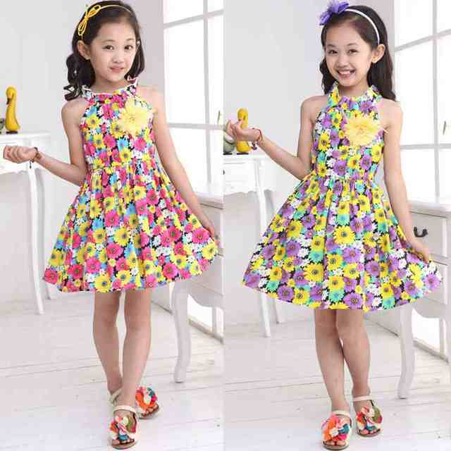 Online shop bohemian kids party dresses for girls sunflower beach bohemian kids party dresses for girls sunflower beach kids clothes flower girls dresses for party and wedding orange purple mightylinksfo