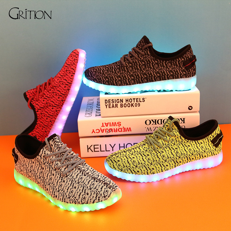 2016 Colorful Shining LED Shoes Luminous Glowing Fashion Shoes Hot Sale Men Casual Shoes