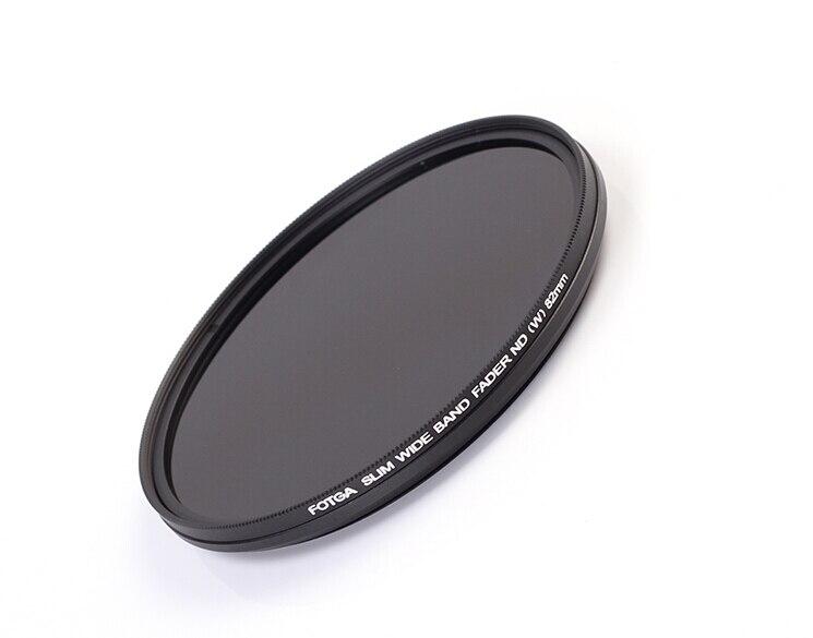 FOTGA 43/46/49/52/55/58/62/67/72/77 /82mm Slim Fader ND Filtre Protecteur D'objectif Variable Densité Neutre ND2 à ND400