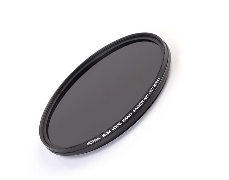 Fotga 43/46/49/52/55/58/62/67/72/77 /82mm Delgado fader nd filtro protector de lente densidad neutral variable ND2 a ND400