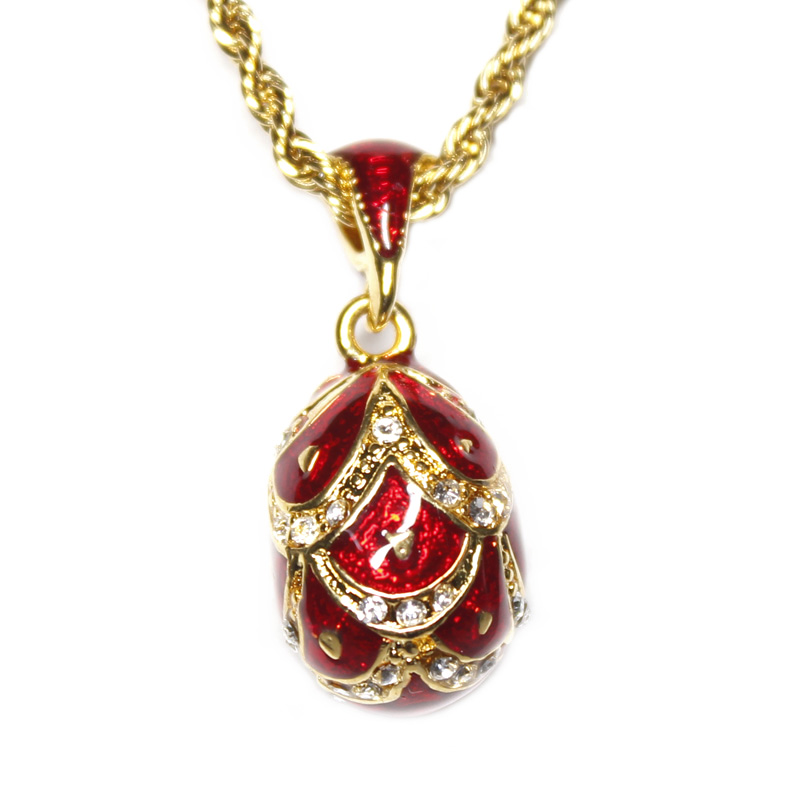 Jewelry & Accessories Hearty Hottest Pendant Necklace Hottest Jewelry Brass Enamel Handmade Plating Scaly Pattern Vintage Egg Pendant Necklace Gift To Women Discounts Sale Pendants