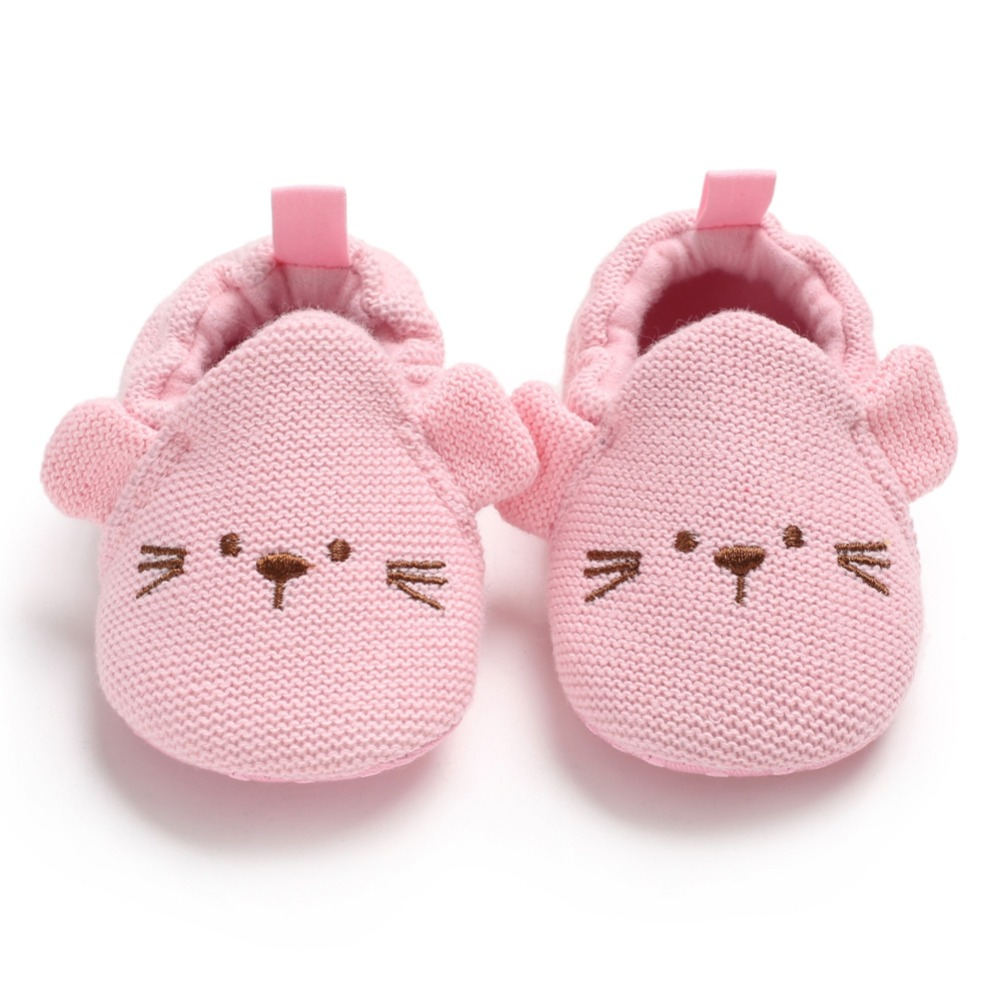 Baby Boy Girl Spring First Walkers Shoes Cute Soft Soled Cartoon Mouse Shoes Infant Walking Dress Cradle Shoe 0-18M