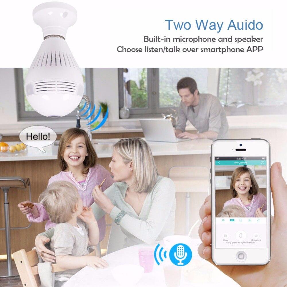 3g 4G sim карта 1080P HD Беспроводная купольная ip камера лампа Wi Fi 360 градусов рыбий глаз VR аудио домашний CCTV светильник безопасности модуль камеры - 3