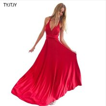 Sexy Women Boho Maxi Club Dress Red Bandage Long Dress Party Multiway Bridesmaids Convertible Infinity Robe Longue Femme 2019(China)