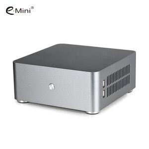 Image 2 - E. מיני H80S מיני ITX מארז מחשב אלומיניום PC מקרה מארז עם כפולה USB3.0 HTPC
