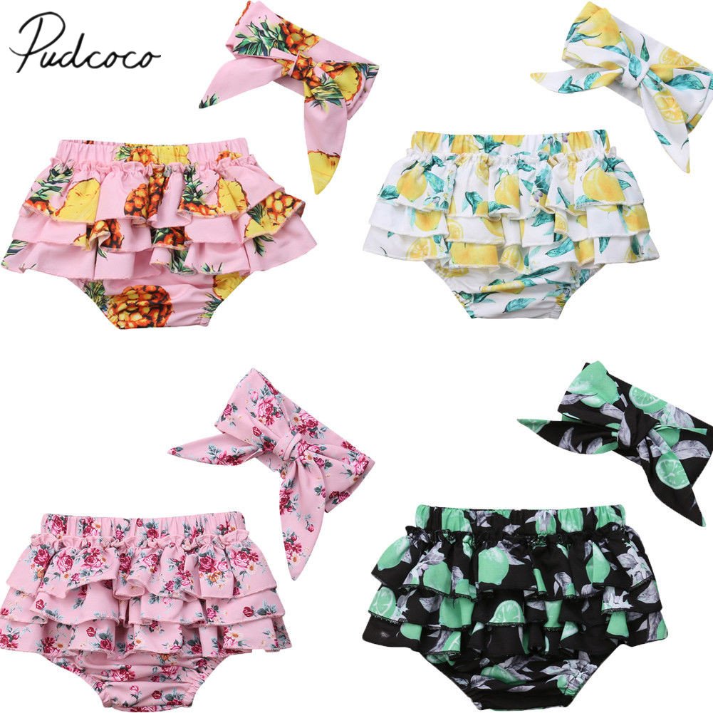 Infant Baby Boys Girls Cotton Shorts Pants Diaper Cover Nappy  Bloomers Bottoms