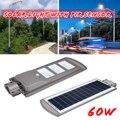 1 шт. 60 Вт 120 шт. светодиодный Сенсор Солнечная приведенная в действие настенная лампа уличного освещения Алюминий сплав Wterproof IP67 для наружно...