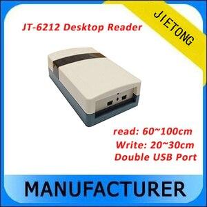 UHF rfid настольный считыватель с двойным USB интерфейсом связи и поддержкой шифрования