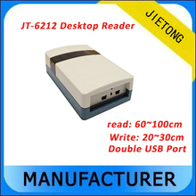 UHF rfid desktop reader with double USB communication interface and Support for encryption encryption for video