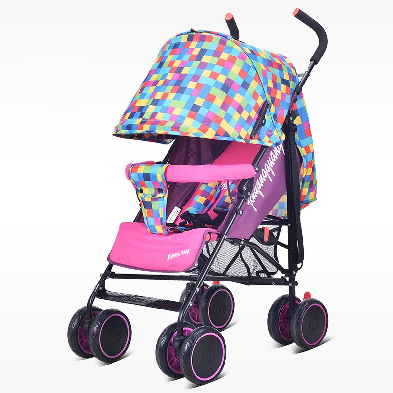 New Summer Light Baby Stroller Folding Umbrella Car Can Sit Can Lie Ultra-light Stroller Portable On The Airplane For Travel baby stroller can sit and lie in the summer of four ultra portable folding umbrella car wheel suspension baby cart high landscap