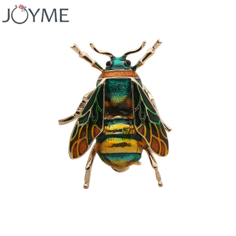 Brooches for Women Jewelry Cute Bee Fly Insect Brooch Kids Girls Clothes Accessories Gold color Black