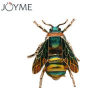 Brooches for Women Jewelry Cute Bee Fly Insect Brooch Kids Girls Clothes Accessories Gold-color Black Yellow Enamel Pin Brooch