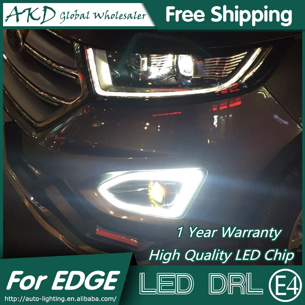 AKD Car Styling for Ford Edge DRL 2015 New Edge DRL LED Fog Lamp Daytime Running Light Fog Light Parking Accessories akd car styling for kia sportage r drl 2014 new sportager led drl korea design led running light fog light parking accessories