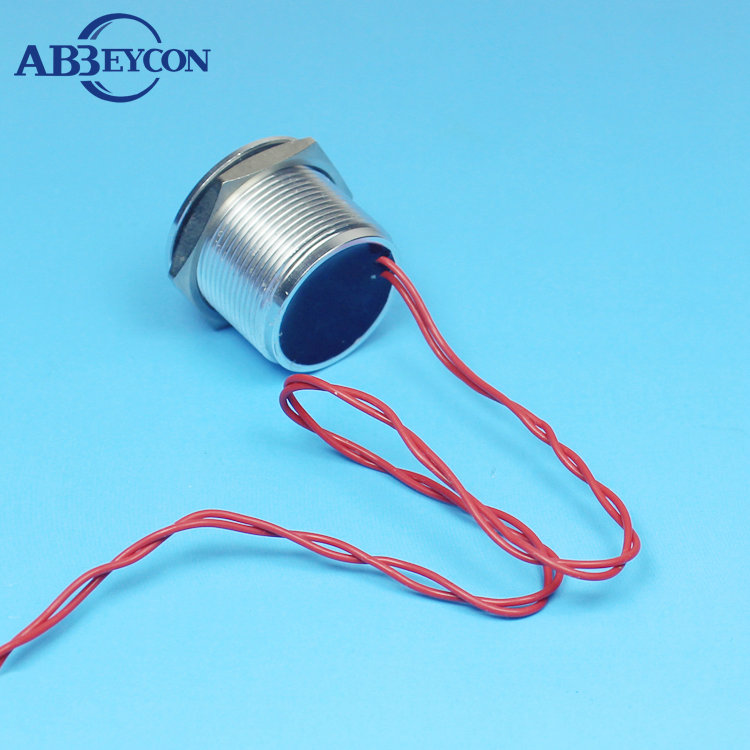 Abbeycon 0.2A 24VAC/DC IP68 Waterproof 22mm Normally Open Flat Head Stainless Touch Electric Finger Press Cable Piezo Switch
