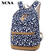 Xqxa высокое качество bunuck кожаный рюкзак Школьные сумки для подростка Обувь для девочек Bolsas Mochila Feminina печати холст рюкзак женский