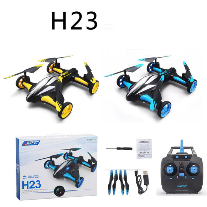 JJRC H23 2.4G 4CH 6-Axis Gyro Air-Ground Flying Car One Key Return RC Drone Quadcopter with 3D Flip Headless Mode Childen' Gift jjrc h33 mini drone rc quadcopter 6 axis rc helicopter quadrocopter rc drone one key return dron toys for children vs jjrc h31