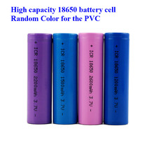 Wholesale price 18650 battery 3.7V li-ion rechargeable 1200mah 1500mah 1800mah 2000mah 2200mah 2600mah Very cheap (1pcs)