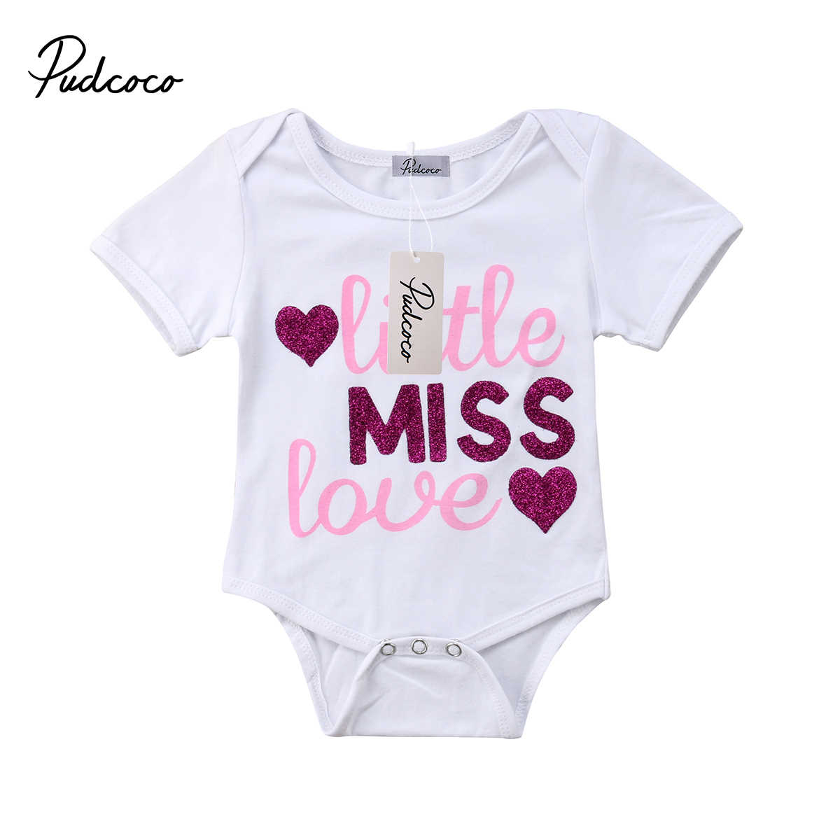 11564d4c0ea Detail Feedback Questions about 2018 Brand New Newborn Toddler Baby Girls  Summer Causal Romper Short Sleeve Letter Print White Jumpsuits Playsuit  Outfit 0 ...