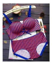 3 Colors Women Fashion Striped Candy Push Up Adjustable Wire Free Bra Set Seamless Comfortable Underwear Intimates Lingerie 183