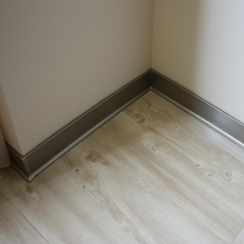 Aluminum Baseboard Stainless Steel Skirting Feet Of