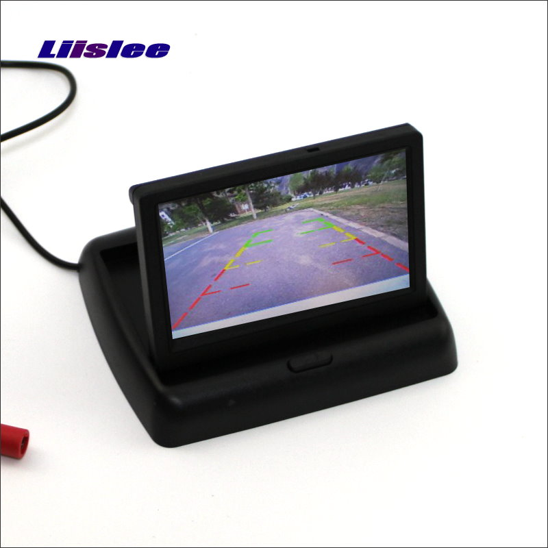 Liislee For Audi A6 / C6 / S6 / RS6 Foldable Car HD TFT LCD Monitor Color Screen Display / 4.3 inch / NTSC PAL Color TV System