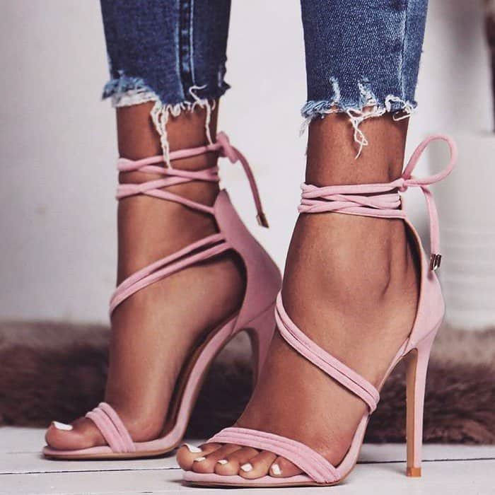 Women Sandals 2018 Fashion Lace up Woman High Heels Shoes Gladiator Sandalias Narrow Bond Thin Heels Sapatos ...