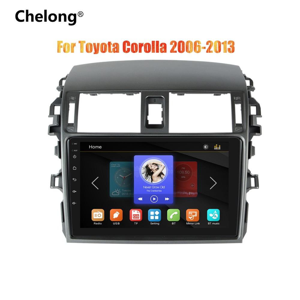 2din 9 inch Car Radio Mirrorlink Android Bluetooth Car Multimedia MP5 Player For Toyota Corolla 2008 2009 2010 2011 2012 20132din 9 inch Car Radio Mirrorlink Android Bluetooth Car Multimedia MP5 Player For Toyota Corolla 2008 2009 2010 2011 2012 2013
