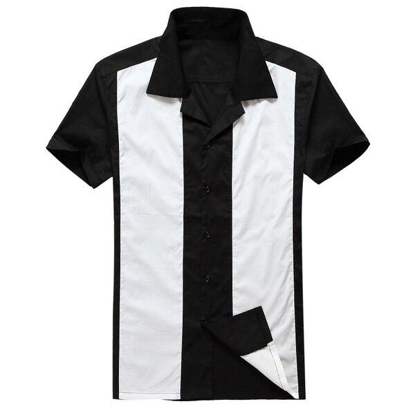 Rock Steady DIAMOND STITCH Retro Button Up 50s Bowling Shirt HEMD Rockabilly