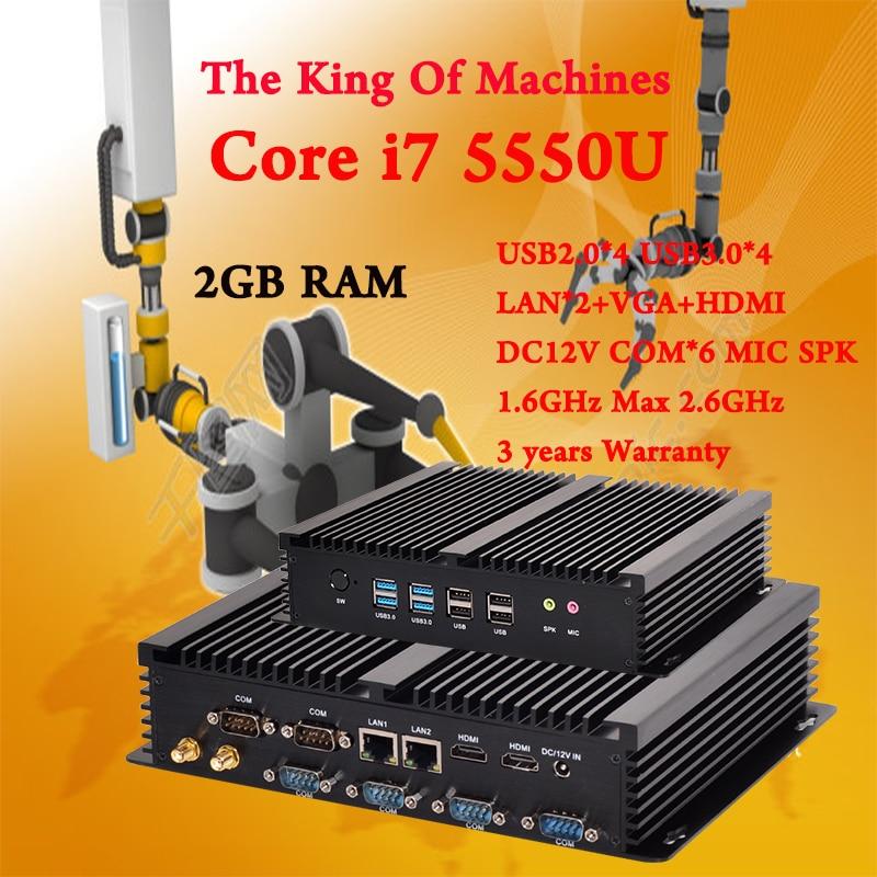 Mini PC Desktop Fanless COM HDMI VGA 300M Wifi 4K HD HTPC USB 3 0 windows
