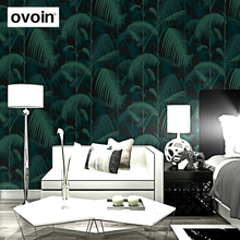 Papier peint Non tissé vert Non tissé, jungle tropicale, feuilles de palmier, bois, forêt florale, plantes naturelles