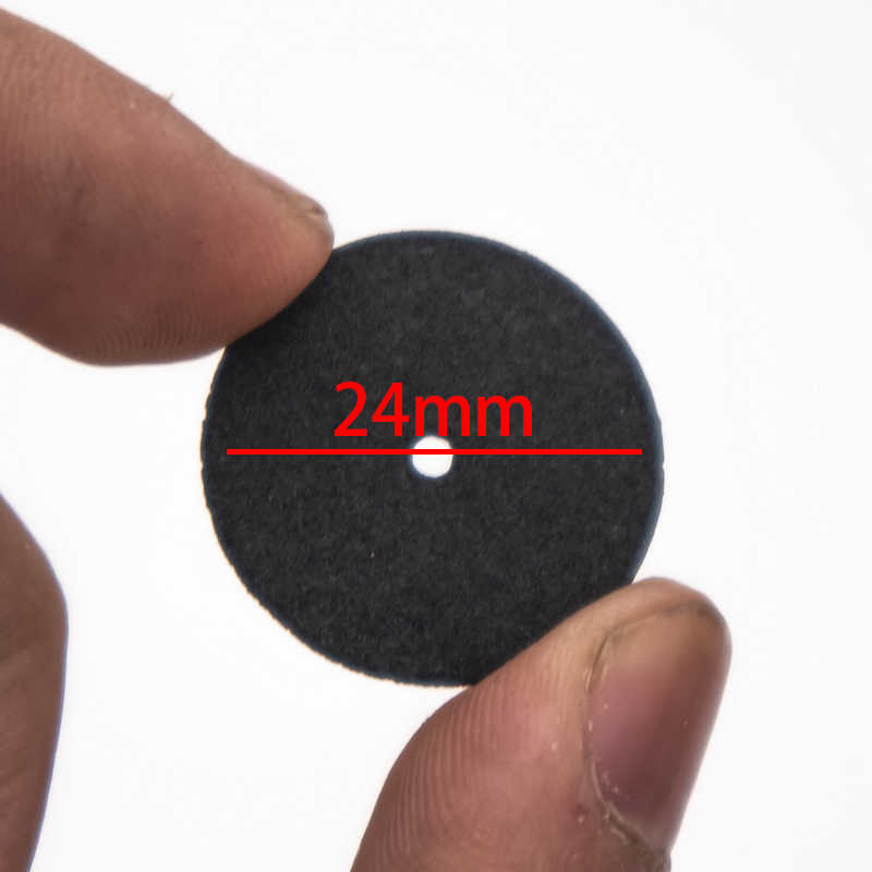10 Pcs 24 MM สีดำตัดขัดเสริมแรงตัดบดล้อใบมีดแผ่นชิ้นส่วนเครื่องมือเรซิ่นตัด - off