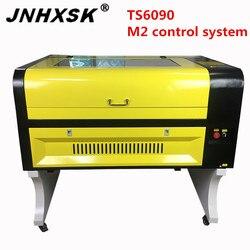 JNHXSK nowa maszyna sprzedaż M2 system 100w laserowa TS9060 grawer laserowy maszyna do cięcia drewna 8mm w górę i w dół dostaw angielski laserowego cnc