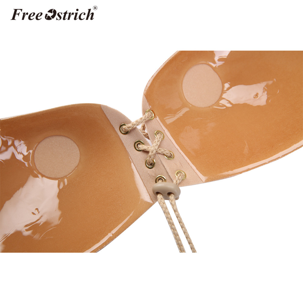 Free Ostrich Push Up Fly Strapless Silicone invisible Bra For Women Adhesive Backless Bra Underwear Drop Shipping F30 19
