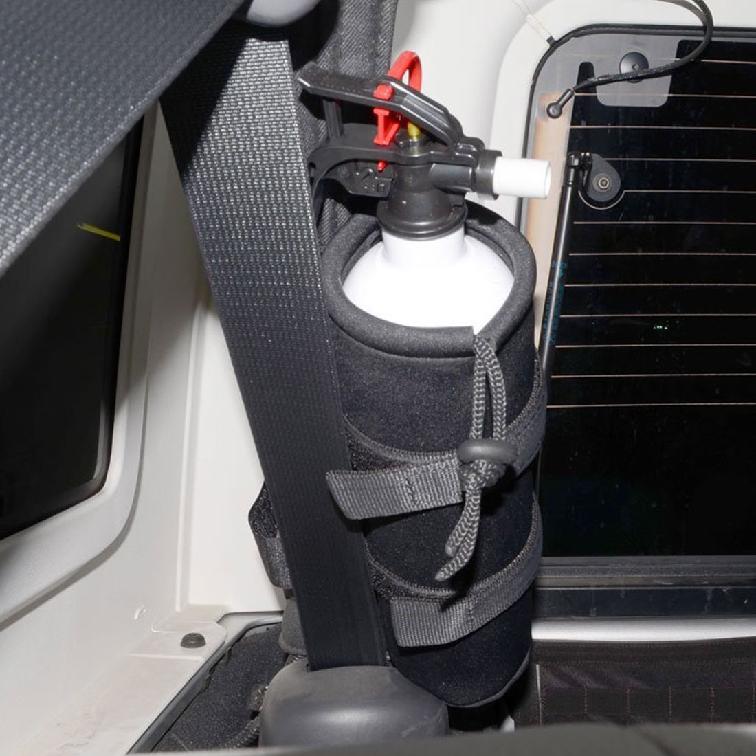 Dewtreetali Fire Extinguisher Holder Nylon Straps Black Roll Bar Holder Car Styling For Jeep Wrangler TJ YJ JK CJ