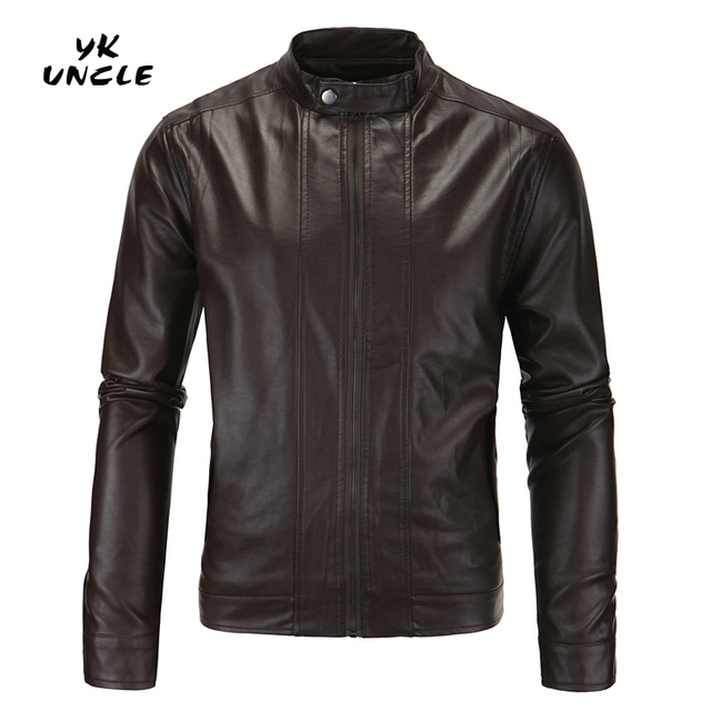 Locomotive PU Leather Jacket Men Fashion Brand Motorcycle Business Casual Mens Leather Jackets Coats High Quality M-5XL,YK UNCLE