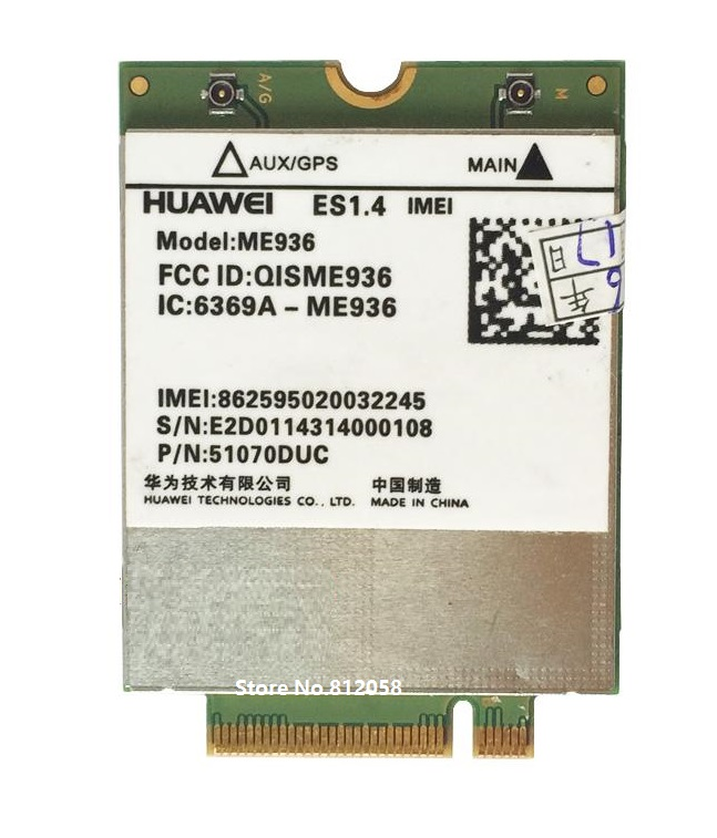 SSEA Wholesale NEW unlocked HUAWEI ME936 4G LTE WCDMA/HSDPA/HSUPA/HSPA+ GPRS/EDGE NGFF Modules Wireless 4G card Free shipping стоимость